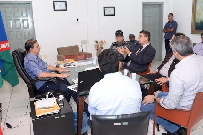 Prefeito Fábio Gentil recebe secretário de Segurança do Estado do Maranhão para acelerar a instalação do IML