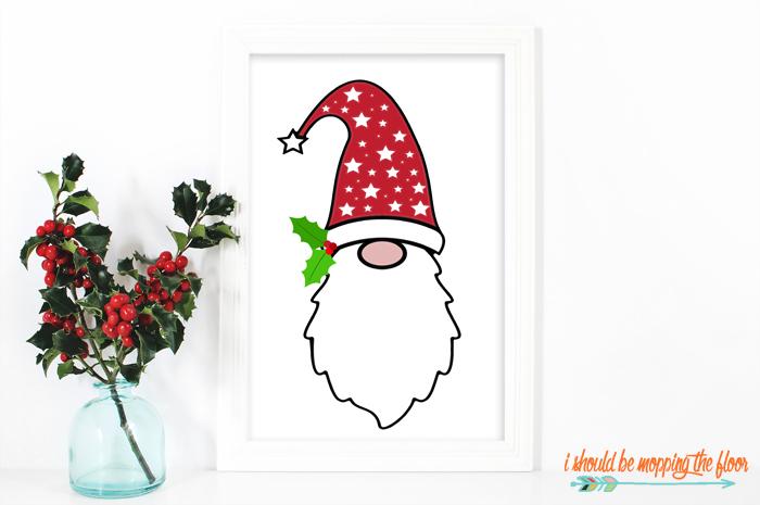 Christmas Gnome Free Printable