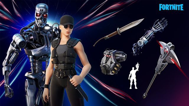 SARAH CONNOR & THE T-800 arrives in Fortnite