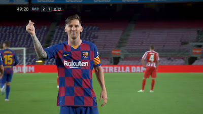 LFP-Week-33 Barcelona 2 vs 2 Atletico Madrid 30-06-2020
