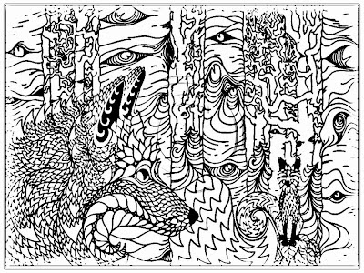 Angry Wolf Adult Coloring Pages Printable