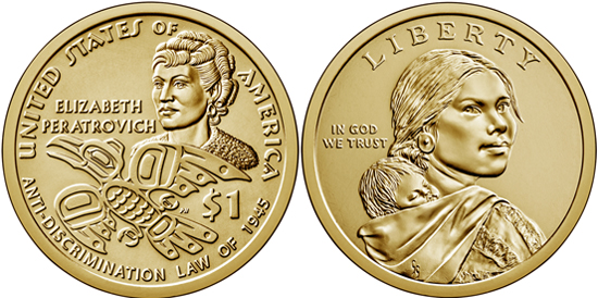 USA 2020 - Native American dollar - Elizabeth Peratrovich