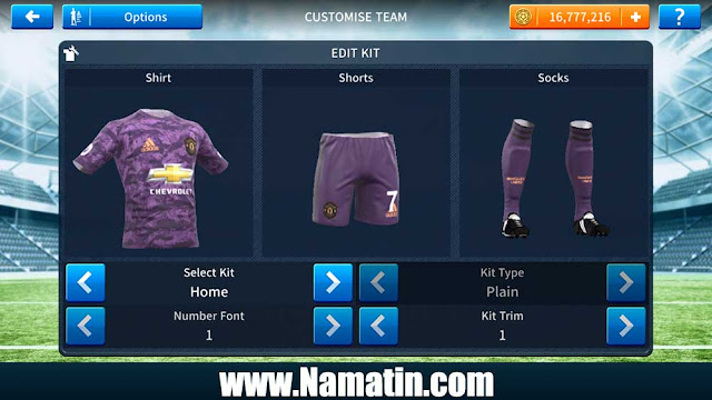 Seragam Dream League Soccer Manchester United Kiper