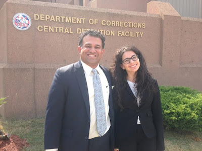 Vinoo Varghese pictured with Elizabeth Levin (CAS '16)