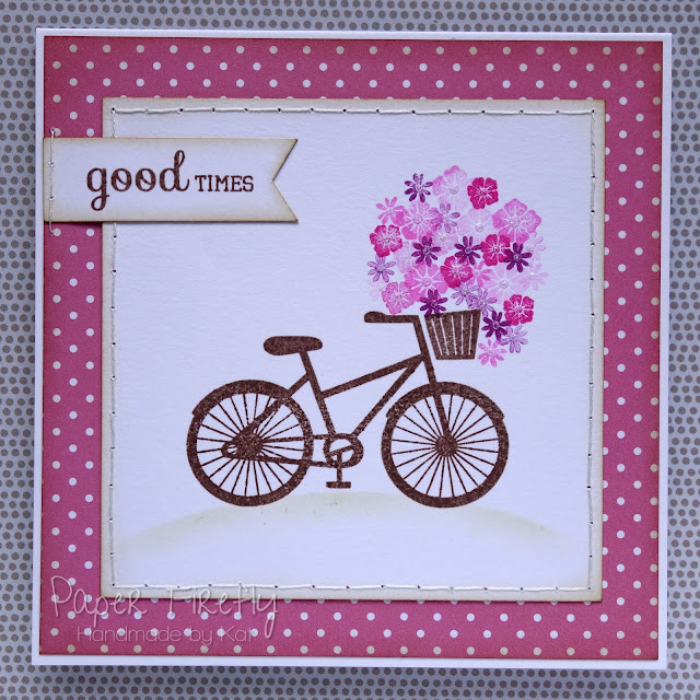 CAS floral bicycle card
