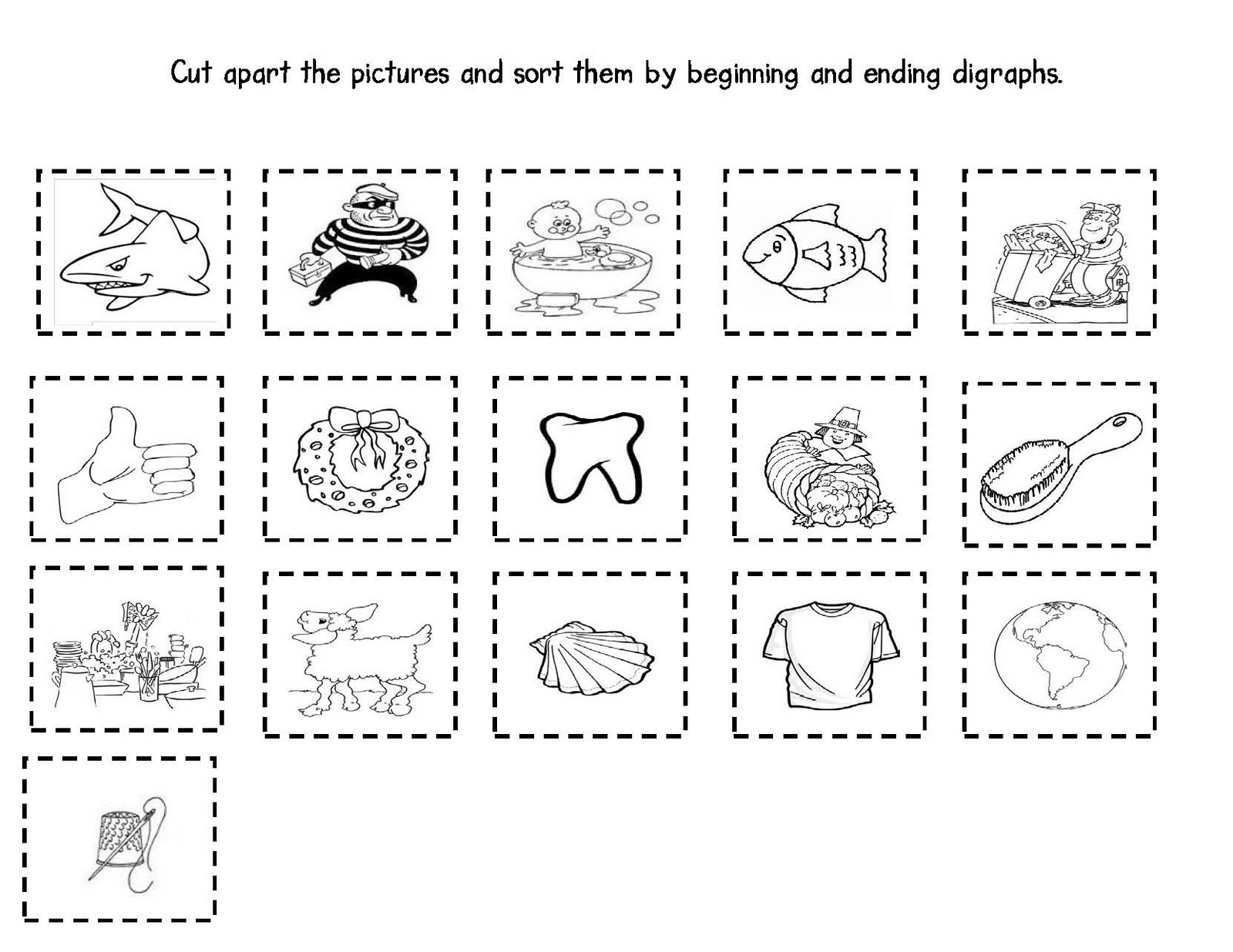 Consonant Digraphs Worksheet 2nd Grade