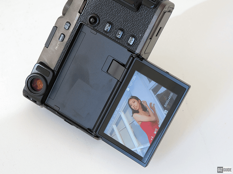 Fujifilm X-Pro 3's flip-down touch screen display