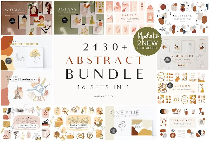 2400 ABSTRACT BUNDLE | Best Design For Great Designers