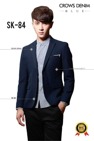 indonesia shop suit blue skinny blazer