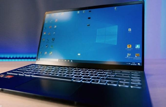 14-inch FHD IPS display of MSI Modern 14 B4MW laptop.