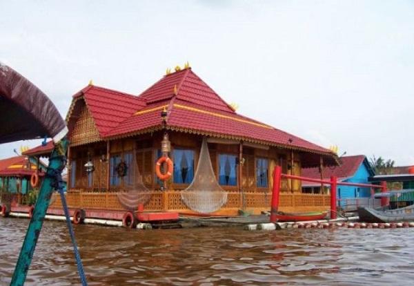Gambar rumah adat Bangka belitung (Rakit limas)