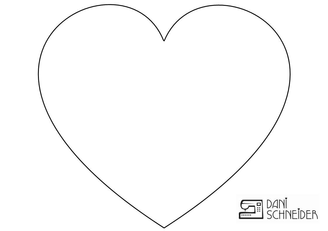 Desenho De Coracao Grande Para Imprimir: Dani Schneider: Quadro De Coração