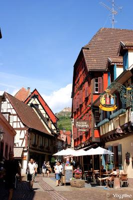Le case pittoresche del centro storico di Ribeauvillé