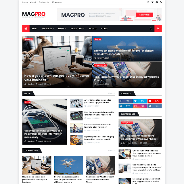 MagPro blogger template