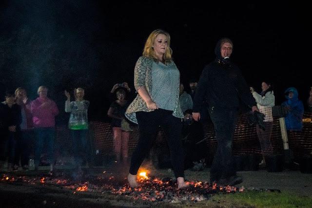 Julie fire walking