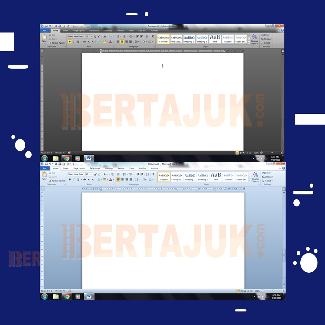 Cara Mengganti Tampilan Warna Latar Belakang Di Microsoft Word 2010 Menjadi Hitam Biru Dan Silver Bertajuk Com