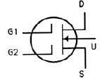 Transistor Symbol - Dual Gate MOSFET – N Channel Depletion