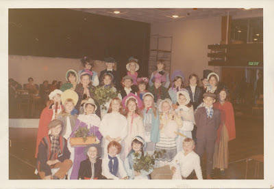 The young cast of A Christmas Carol from Geason's Lane Primary School in Plymouth in 1970-71