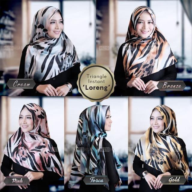 Hijab Jilbab Triangle atau JILBAB Segitiga Instant Loreng Baru