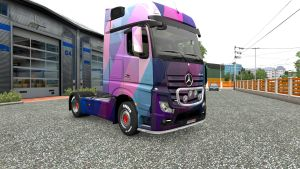 Actros MP4 Abstract skin by LazyMods
