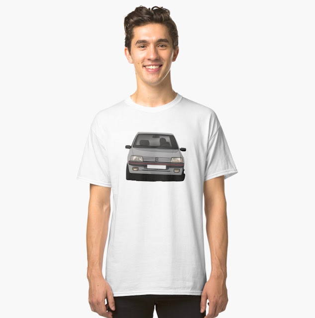 Cornerign Peugeot 205 GTi in a T-shirt