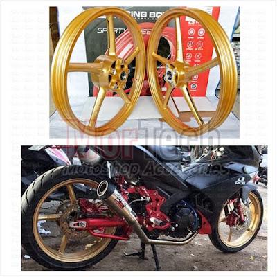 Velg Yamaha Byson Dicat Gold, Sekilas Seperti Velg RCB