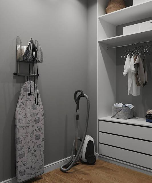 Thiết kế và thi công hoàn thiện nội thất căn hộ chung cư Sunshine Diamond River Quận 7 - Phòng thay đồ