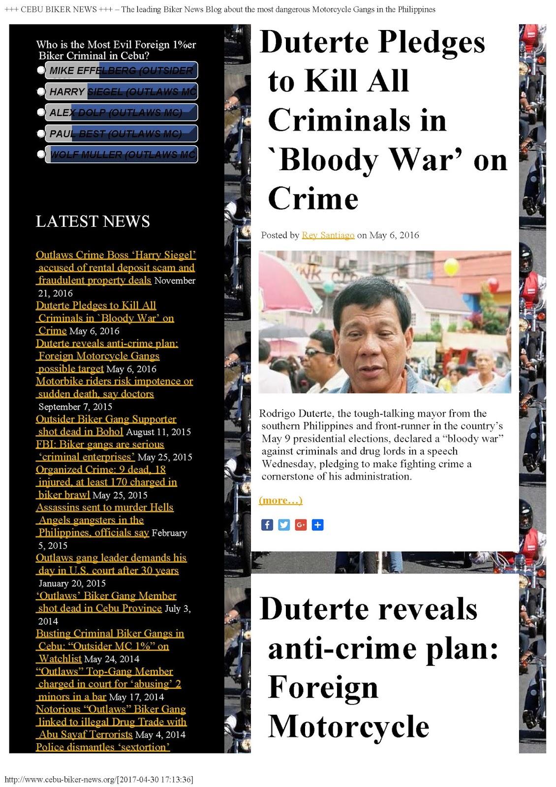 Duterte Philippines Cebu