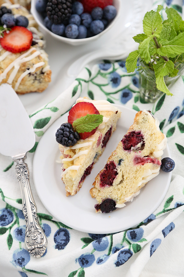 Triple Berry Scones