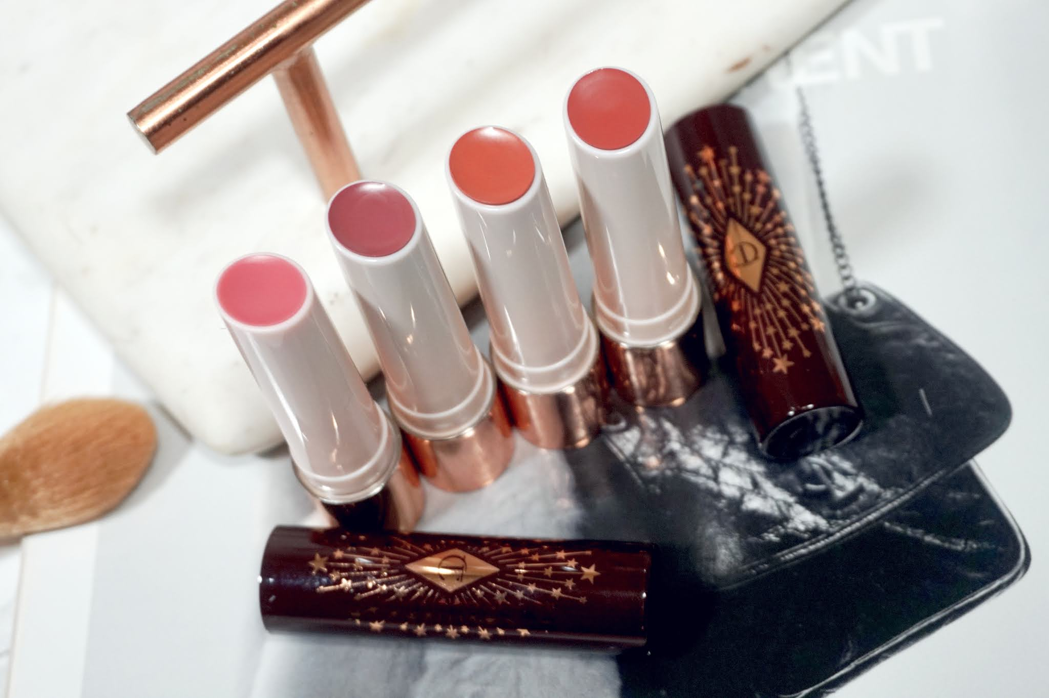 Charlotte Tilbury Hyaluronic HappiKiss Hydrating Lipstick Balms Review and Swatches