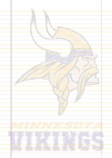 Papel Pautado Minnesota Vikings rabiscado PDF para imprimir na folha A4