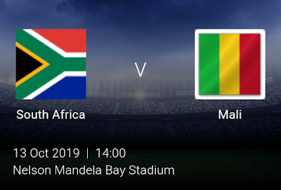 LIVE MATCH: South Africa Vs Mali Fifa Internationals 13/10/2019