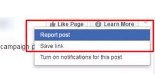 melaporkan berita hoax di facebook