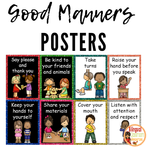 Good Manners Posters. Classroom expectations and manners are fundamental skills for any functioning classroom.
