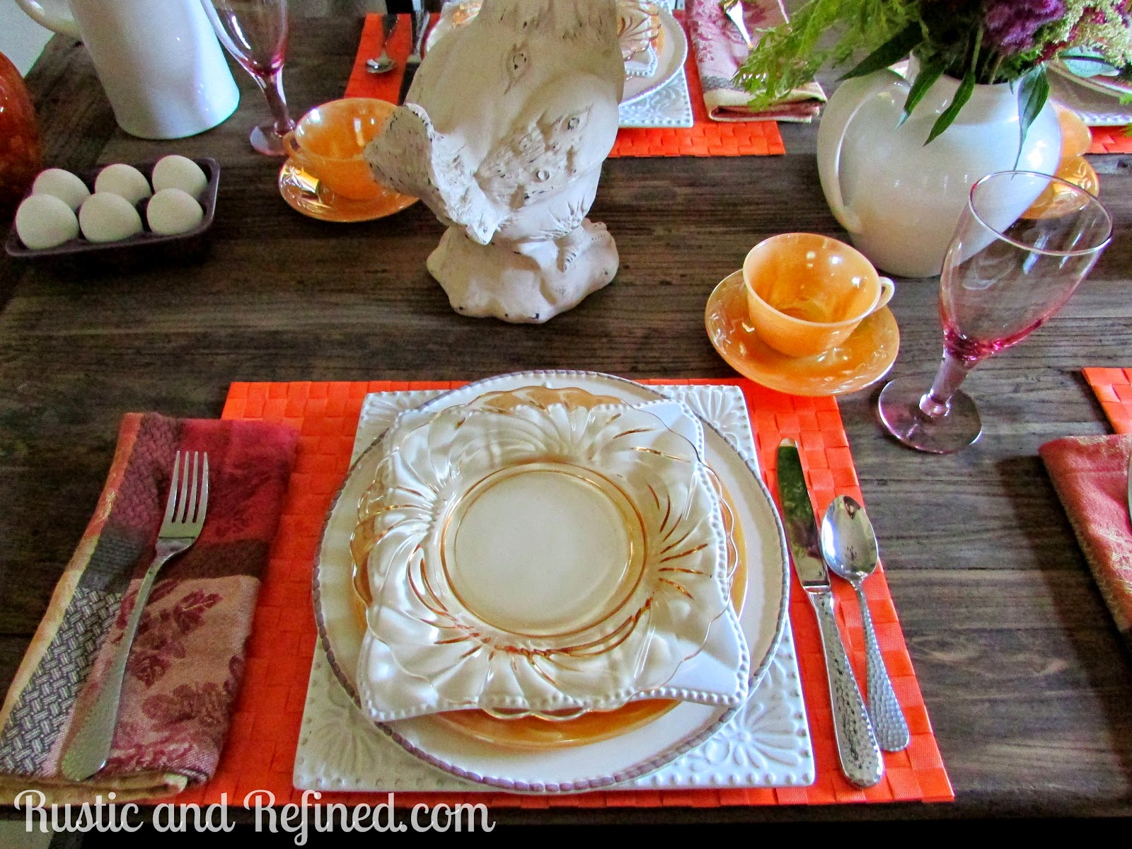 Summer Breakfast Tablescape @ Rustic-refined.com