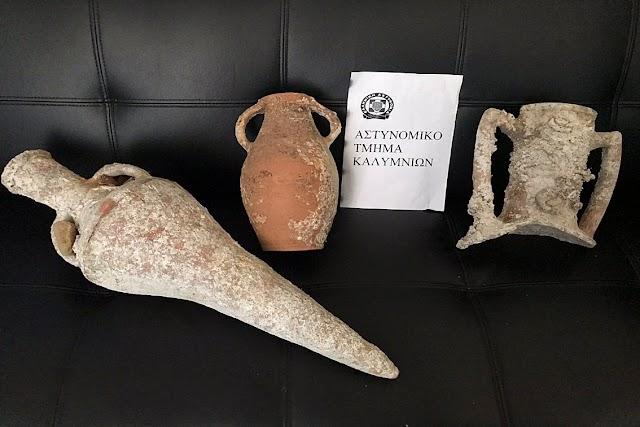 Συνελήφθη ημεδαπός για κατοχή αρχαιοτήτων στην Κάλυμνο