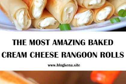 THE MOST AMAZING BAKED CREAM CHEESE RANGOON ROLLS