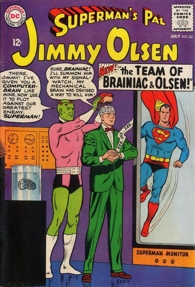 Episode #384 Part IV: Superman Family Comic Book Cover Dated July 1965: Superman's Pal Jimmy Olsen #86!