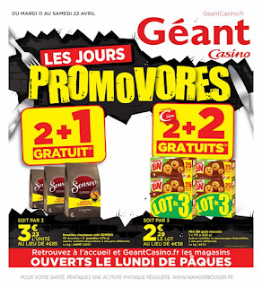 Catalogue géant casino 11 au 22 Avril 2017
