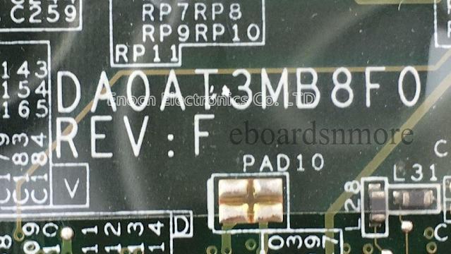 DA0AT3MB8F0 REV F HP DV6700 Laptop Bios