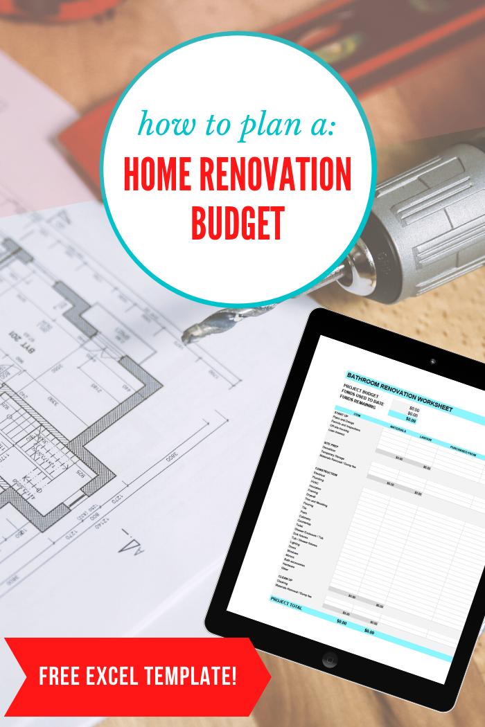 How To Create A Home Renovation Budget Free Spreadsheet Orc Week 4 Rambling Renovators