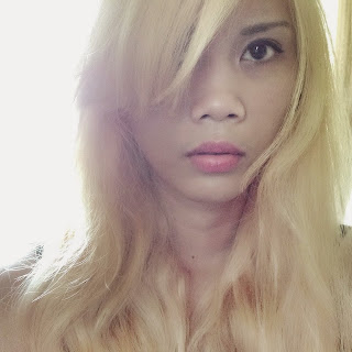 Pale blonde hair of Vannessa Pinlac