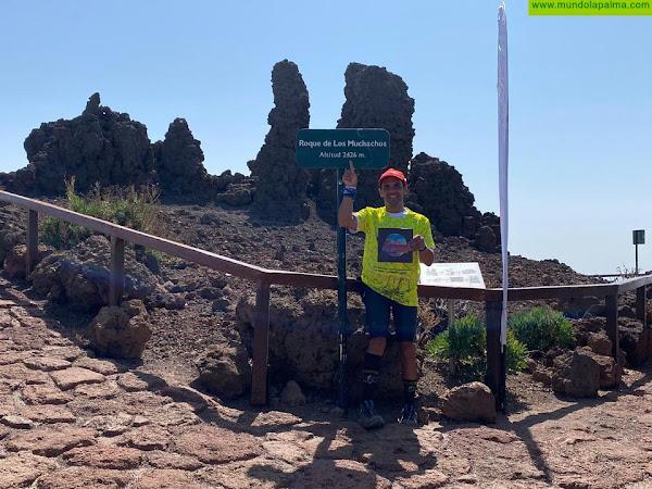 David Rodríguez, un tijarafero coronando la isla de La Palma