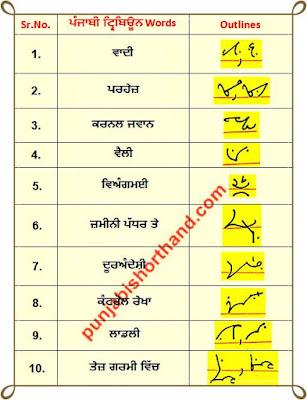 18-june-2020-punjabi-shorthand-outlines
