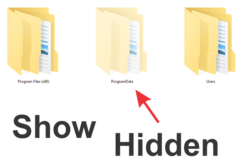 menampilan file tersembunyi