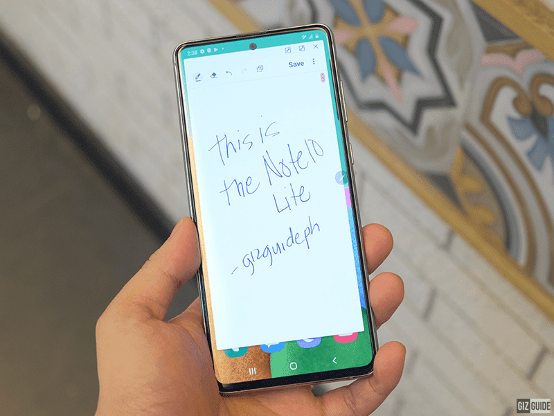 You can write notes on its screen using the S Pen