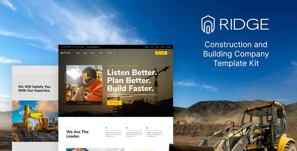 Best Construction and Building Company Elementor Template Kit
