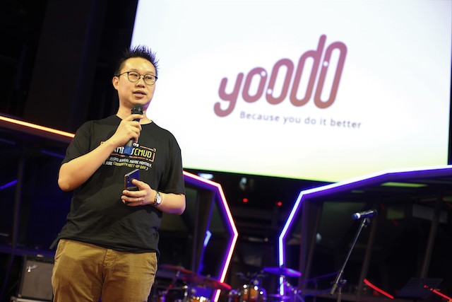 Head of Yoodo, Chow Tuck Mun, at the event