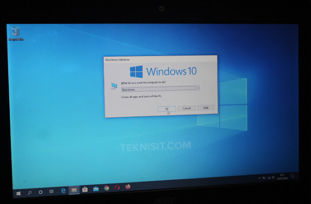 Cara mematikan laptop Acer
