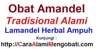 Nama Obat amandel tradisional alami Lamandel herbal ampuh